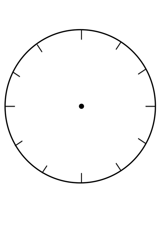 image regarding Blank Clock Printable identified as Clock Faces for employ inside mastering towards notify the period.