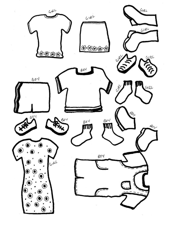graphic regarding Paper Doll Clothes Printable called Paper Dolls with apparel