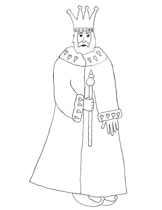 image relating to Printable King named King Colouring Craft
