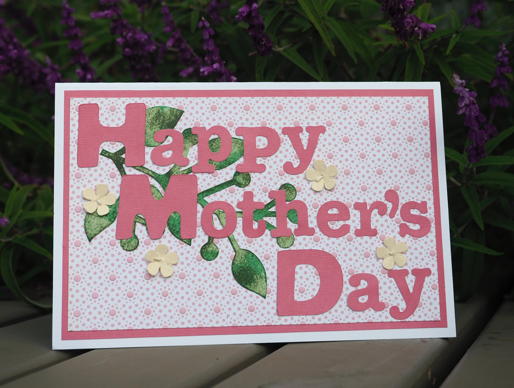 DIY Mother's Day Card. Floral Design. Free instructions, inspiration. Card Making Craft.