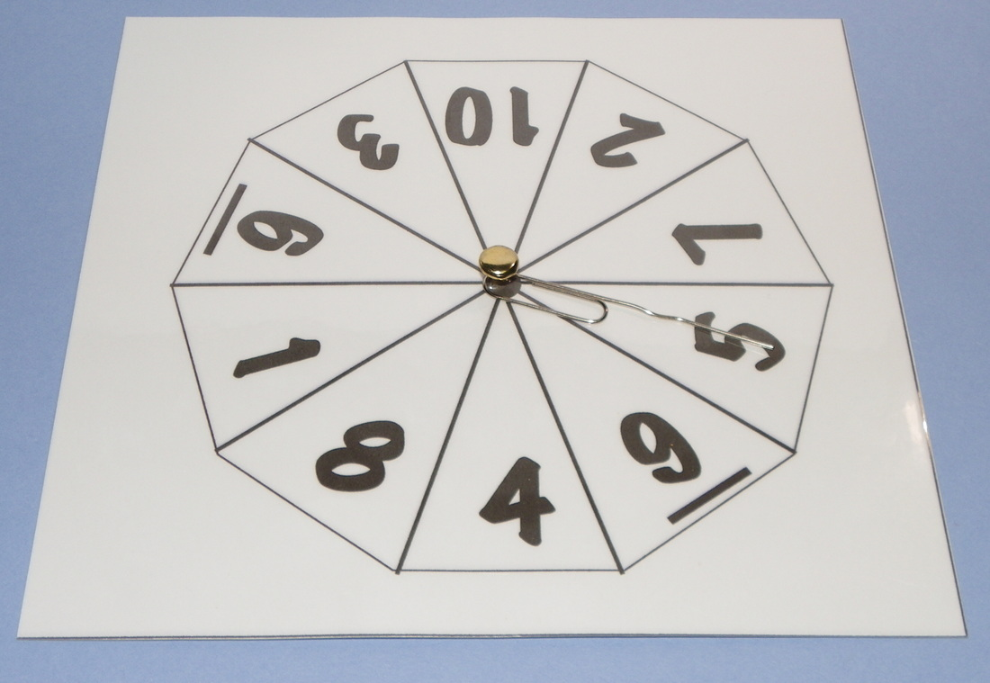 How to make a number spinner 1 to 10 for maths with template