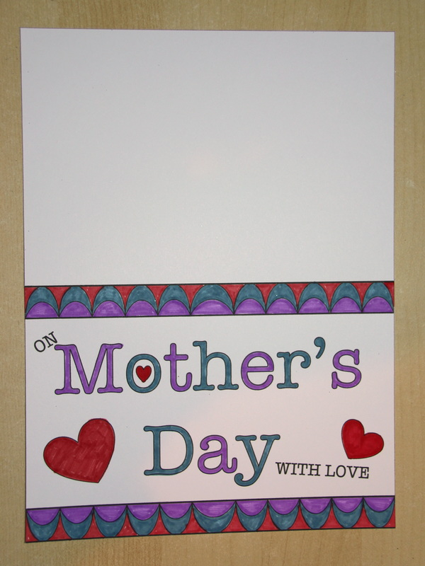 Free printable template for Mother's Day Card Craft for Kids