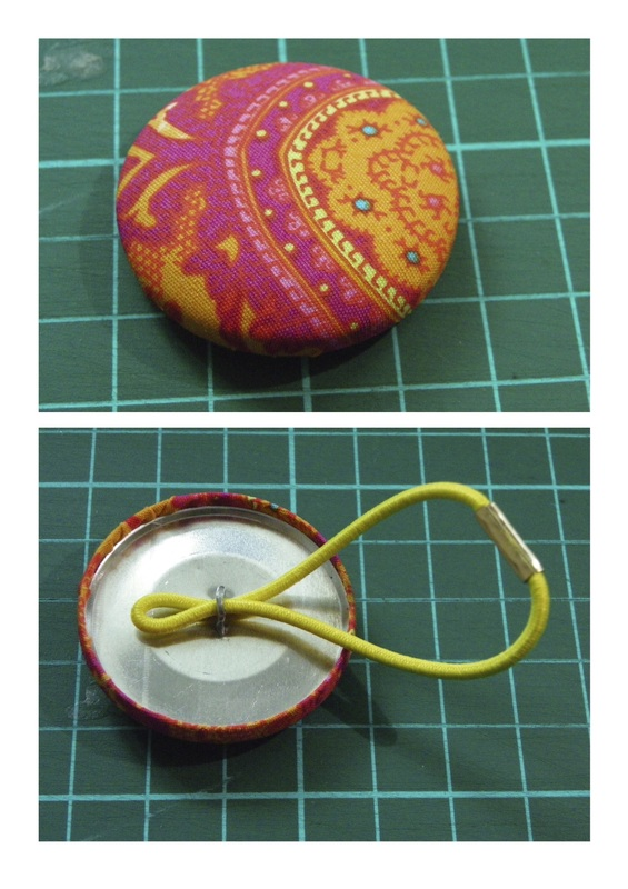 easy free craft material button covered hair ties