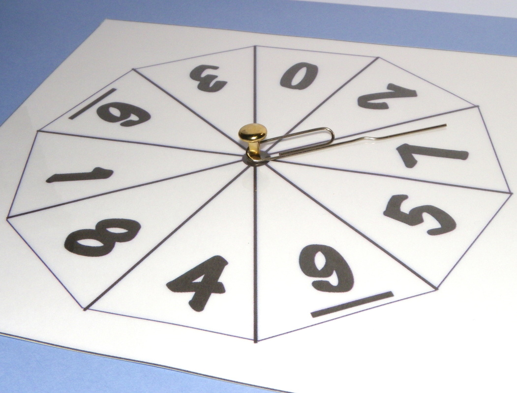 How to make a number spinner 1 to 9 for maths with template