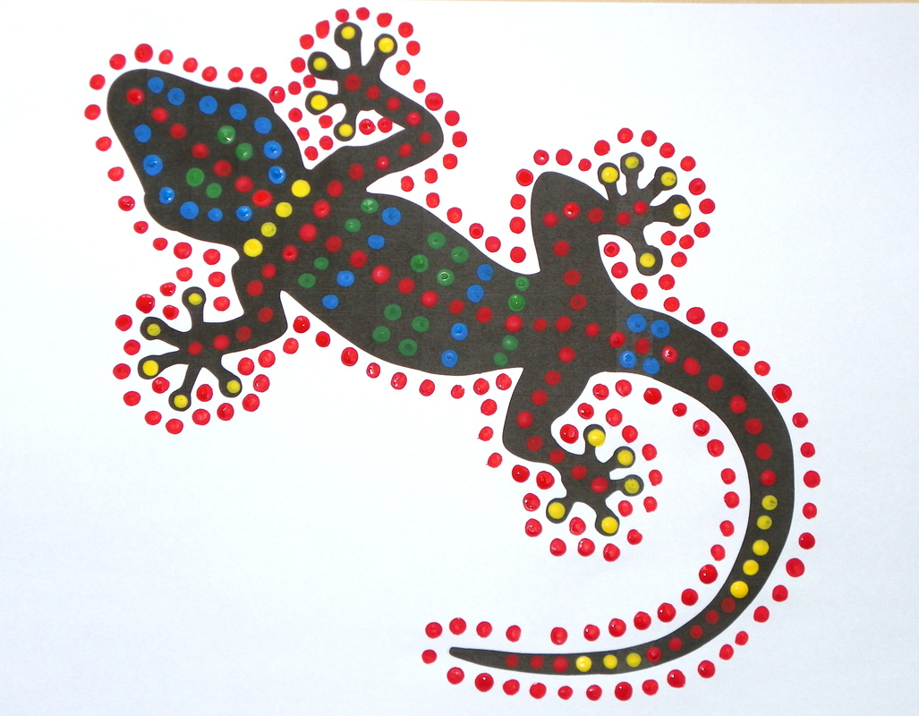 photo regarding Lizard Template Printable known as Gecko Dot Paintings