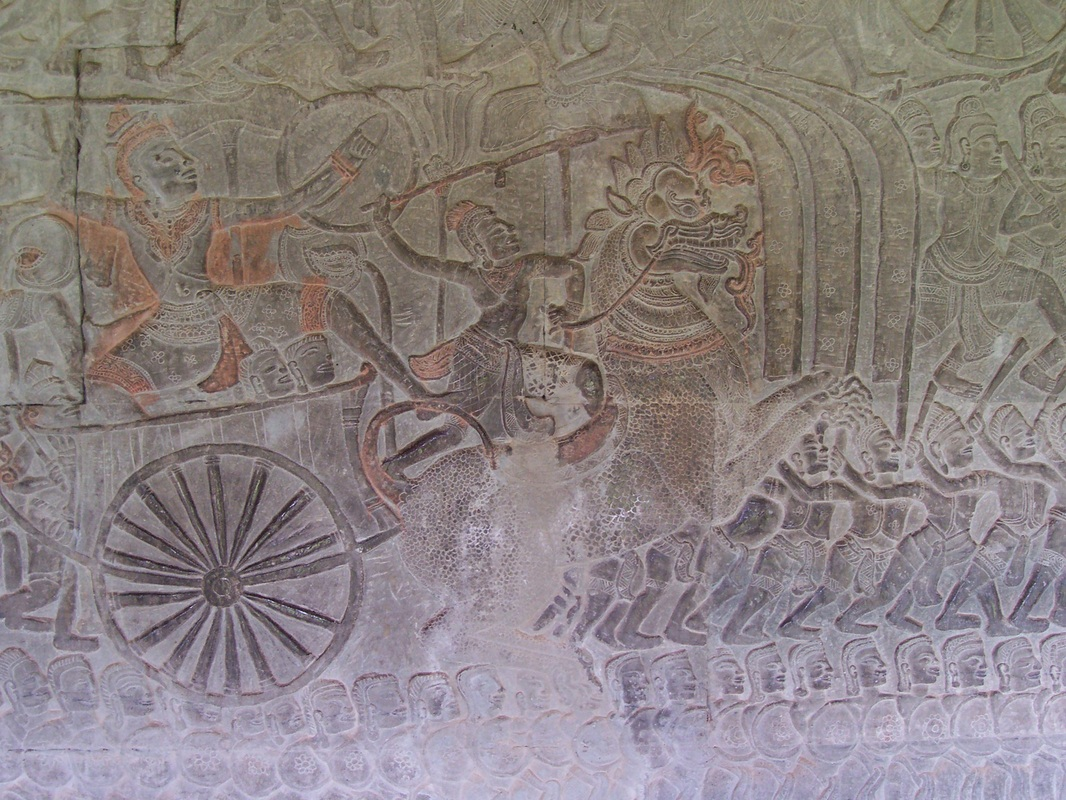 Bas Relief, Angkor Wat, Siem Reap, Cambodia, temple