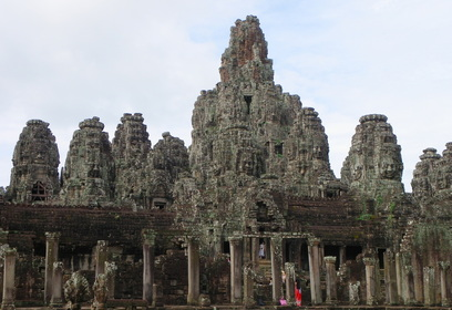Cambodia Siem Reap Angkor Thom Bayon Complex Faces