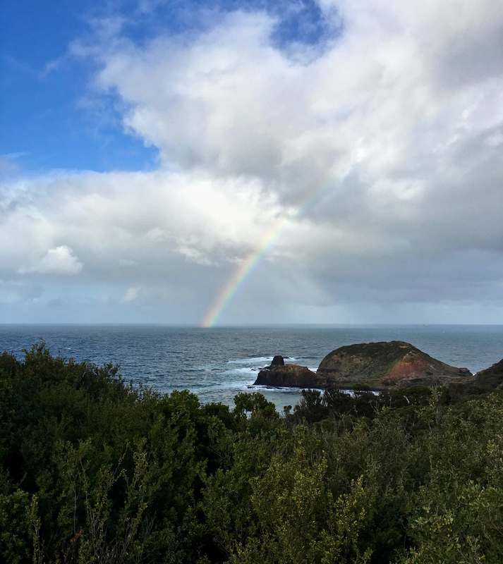 Rainbow, Cape Schanck, Mornington Peninsula, Victoria.