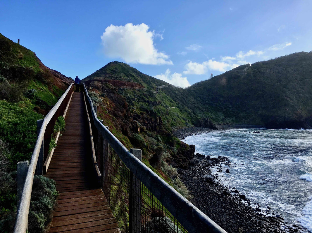 Walkway, Cape Schanck, Mornington Peninsula, Victoria.
