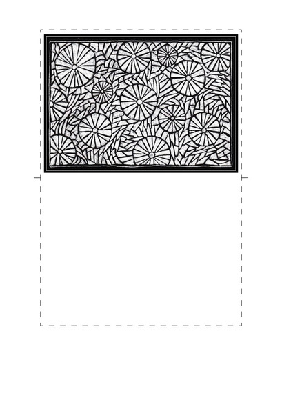 Printable Hand Drawn Cards. With full instructions.