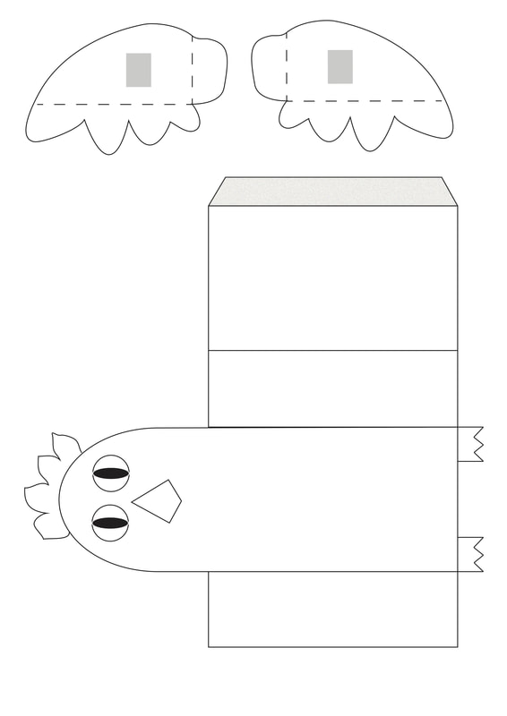picture relating to Chicken Template Printable identify Printable Flapping Bird for Youngsters.