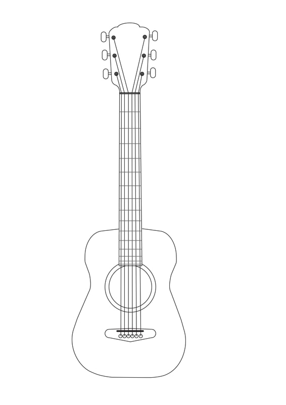 image relating to Guitar Printable known as Guitar Colouring web site