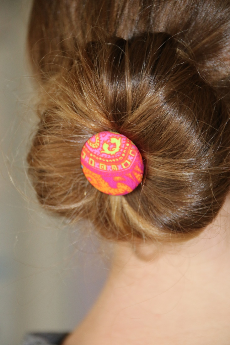 Easy to make hair pins craft.