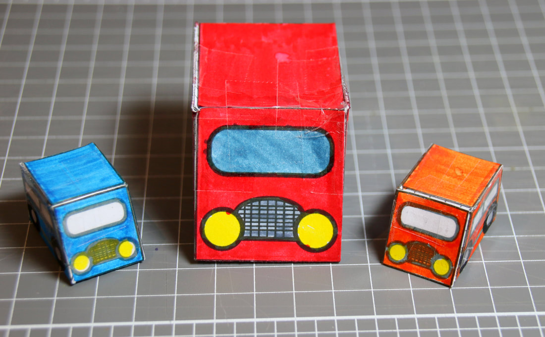 Marble powered car craft for kids. Cool cars powered by marbles with free printable template and instructions.Picture
