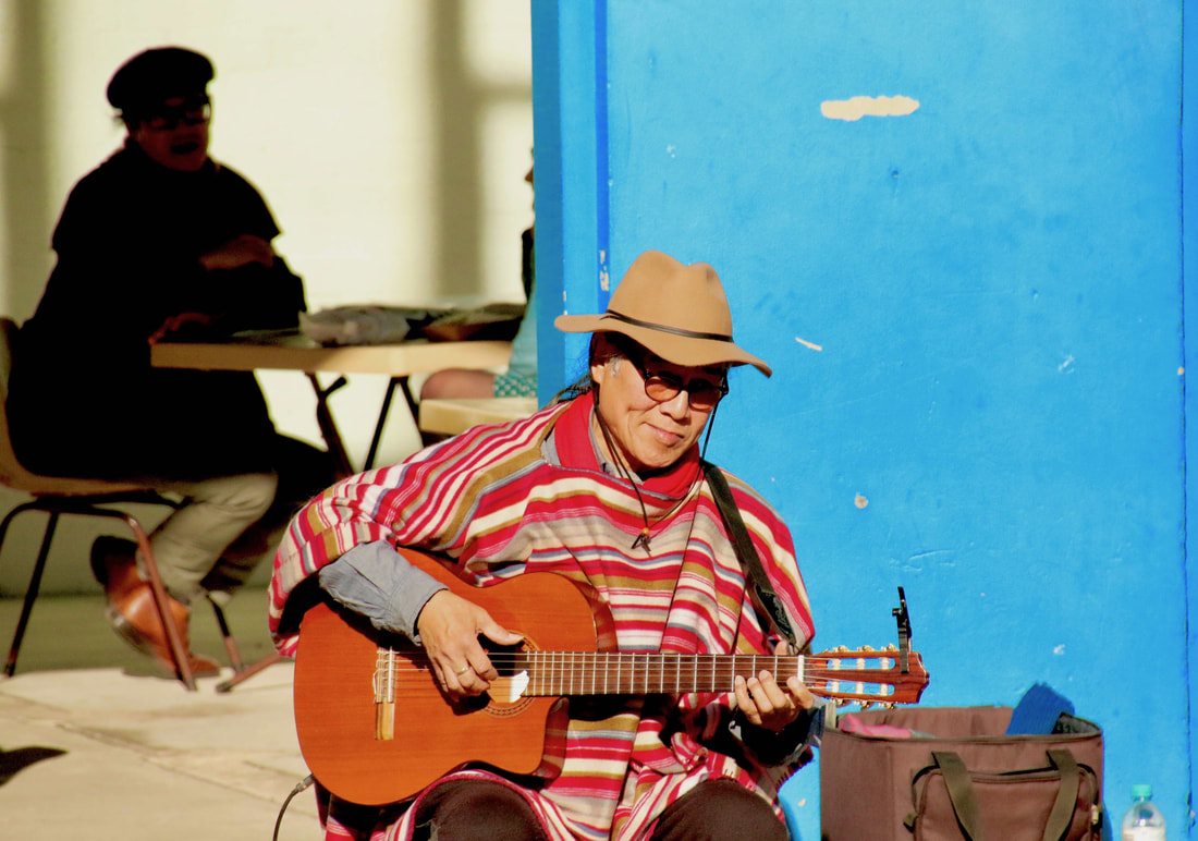 Busker, Old Bus Depot Markets, Canberra, ACT