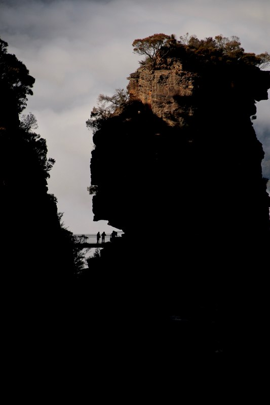Viewing Platform, The Three Sisters, Katoomba. The Blue Mountains, New South Wales, Australia.