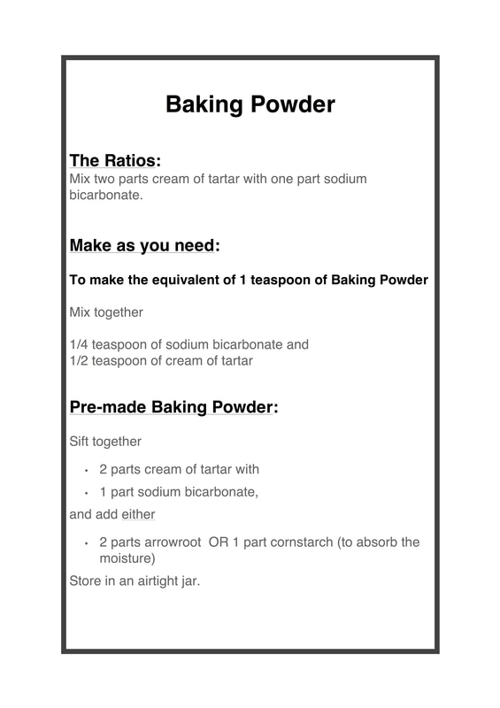 Baking Powder and Baking Soda in cooking