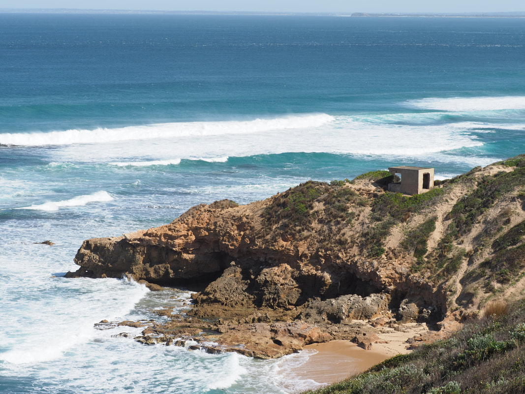 Wild coastline. Point Nepean, Mornington Peninsula, Victoria