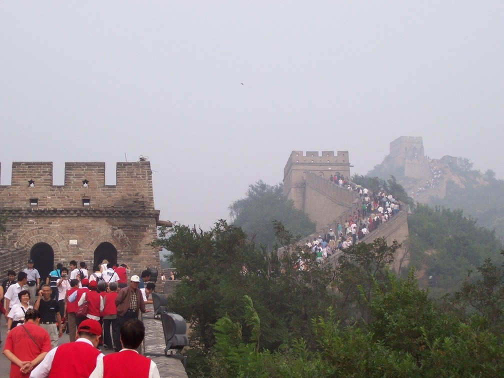 The Great Wall of China, Crowds.