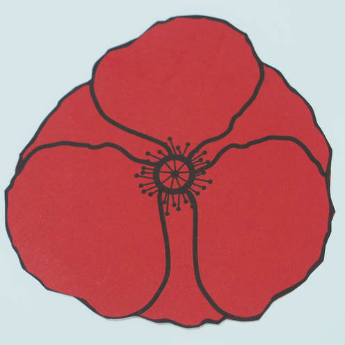 Free Remembrance Day poppies printable template craft
