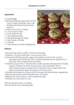 Coconut Raspberry Muffins. SIBO friendly, gluten free, dairy free, low carb. Thermomix Instructions.
